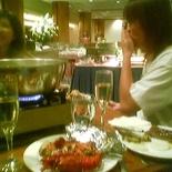 Dinner at garden hotel