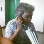 Business granny on the mobile