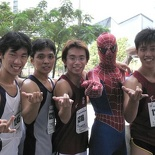 Spiderman to the rescue! (Best dressed participant)