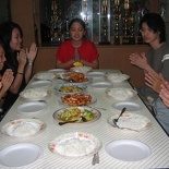 Dinner that night was at our very hospitable rotary president's home again