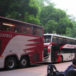 The Buses going up to Malaysia