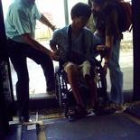 Helping WheelChair Bound Commuter Up Service 147