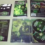 The Steel DVD box contents, 2 DVDs, Manual, Unit/structure tree map and Key command sheet