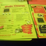The new menu