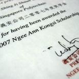 Ngee Ann Study Scholarship 2007