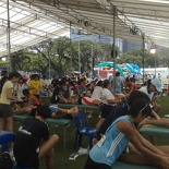 The marathoner massage area
