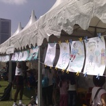 The kids art booth
