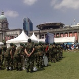 Performances by the padang