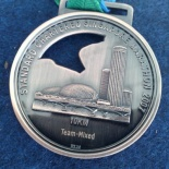 The 10km 3rd plalce medal.