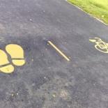 Multi purpose tracks for running, biking/skating