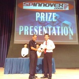 The Gold award presented to my teammate, Khowming (I was the photographer haha)
