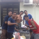 The early BBQ people!