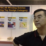 Mr Choy at the SP booth