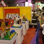 Some of the rather plain looking lego on display