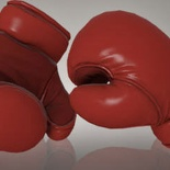 The heavy killing gloves of boxing
