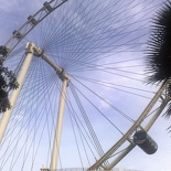 Here we are at the Singapore Flyer!
