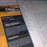 Shaunchng.com site revamp design 2009