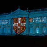 The university logo in Cambridge blue