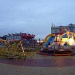 There is a smaller fair open by the beach