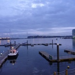 A nice view of the Cardiff bay in the evening