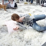Whacked at the pillow fight