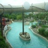 The outdoor portion of the waterpark, should be freezing!
