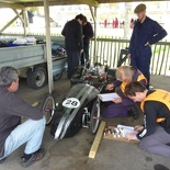 Undergoing pre-race scrutineering