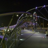 The helix bridge all lit up