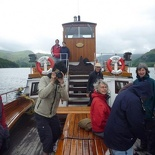The front viewing deck of the steamer