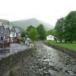 presumably orginating from the highlands given rain
