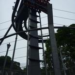 A B&M diving machine & the world's first vertical drop roller coaster.