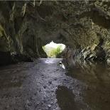 The cave interior