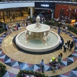 The mall central fountain