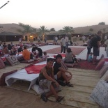 The centerpiece of the camp with traditional arabian seating