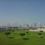 The Dubai Skyline in the distance