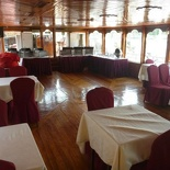 The boat have proper dining areas