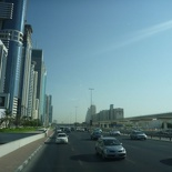 Crusing along the Sheikh Zayed Road