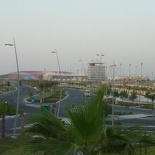 View of the circuit and Ferrari world from the hotels