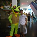 Shaun getting acquainted with his long lost froggie self