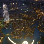 With an overhead view of the performing Dubai Fountain