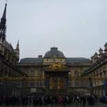 Next to the Palais de Justice