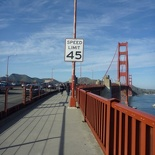 crossing the bridge!