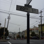 the fastest is from castro, head up to 20 street