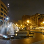 UN plaza and fountains