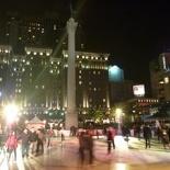 Ice skating rink at the plaza