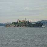 alcatraz from the pier viewing dock