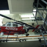 completely decked out with news copter in the lobby
