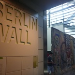 The Berlin wall exhibit
