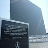 The outdoor astronaut memorial