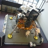 the lunar module from the upper floors